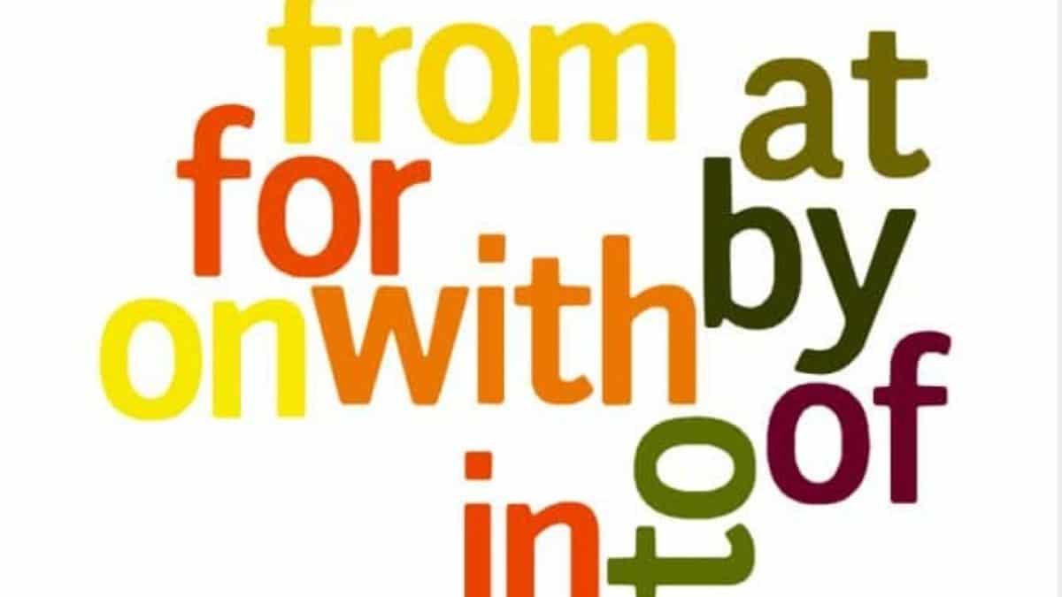 learn English prepositions